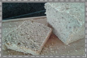 brood plak gebakken