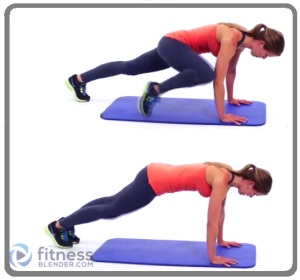 high plank with knees