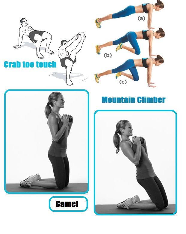 zomerse fitness oefeningen